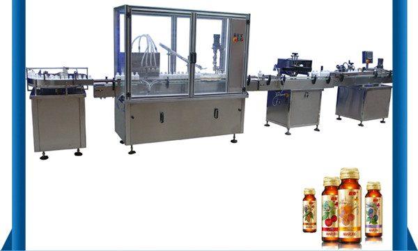 中國供應商自動蜂蜜瓶液體灌裝機