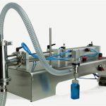 氣動控制雙頭潤滑油灌裝機